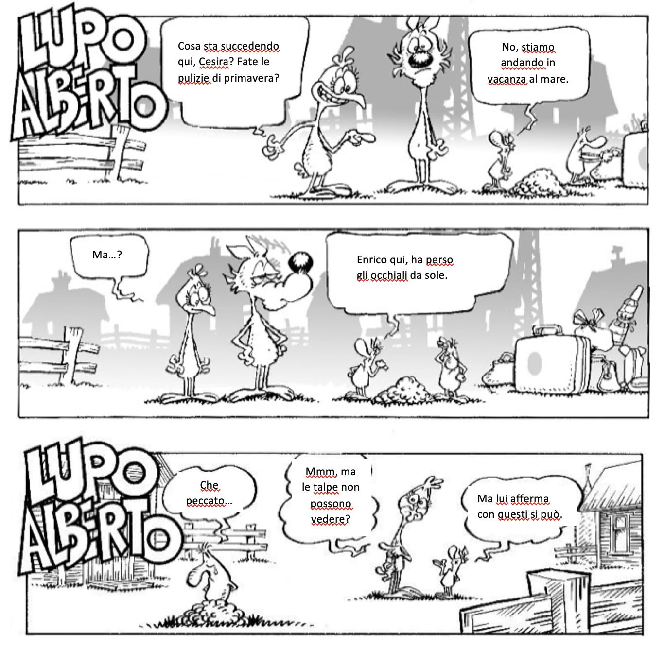 Lupo Alberto - Monica, livello B1.1